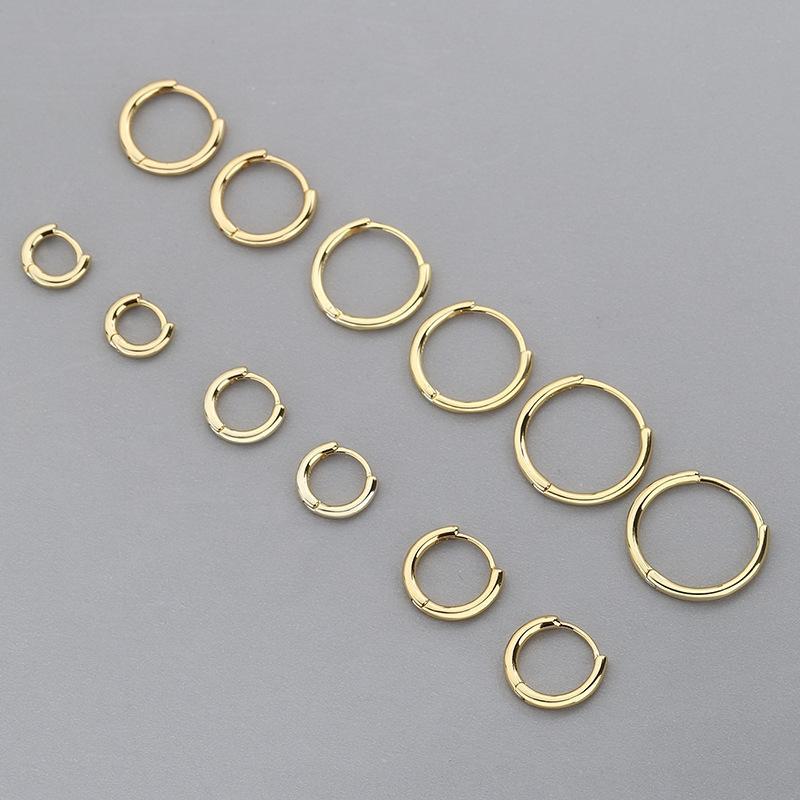 2n4wM S925 стерлингового серебро твердого кольцо кольцо earJapanese и личность моды Корейского стиля гальванического K золото lightmen и женская маленький