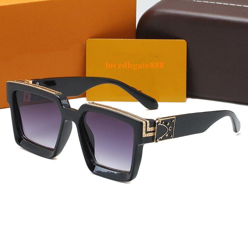 2020 Kare Büyük Boy Güneş Bayan / Bay Vintage Güneş Gözlükleri Marka Tasarımcı Altın Logoo Gözlük óculos De Sol Feminino