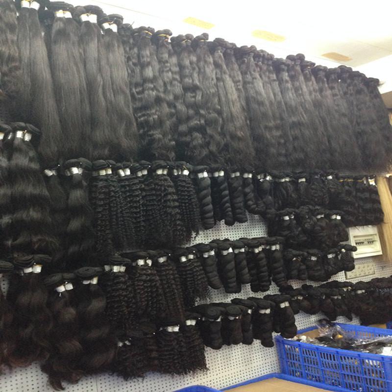 Venta al por mayor 10A ola de cuerpo indio ola de pelo virginal 1kg 10 unids lote crudo sin compensar el cabello humano tejer la mejor calidad cortada de un cabello donante