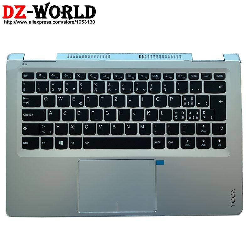 SWS Swiss Backlit Keyboard with Shell C Cover Palmrest Upper Case and Touchpad for Lenovo Yoga 710-14ISK IKB Laptop 5CB0L47372