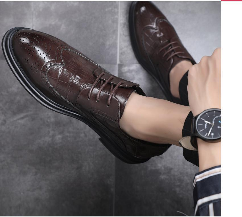 2020 La primavera y el otoño con nuevos zapatos planos del estilo inferior cabeza redonda de los hombres de @ ZX177