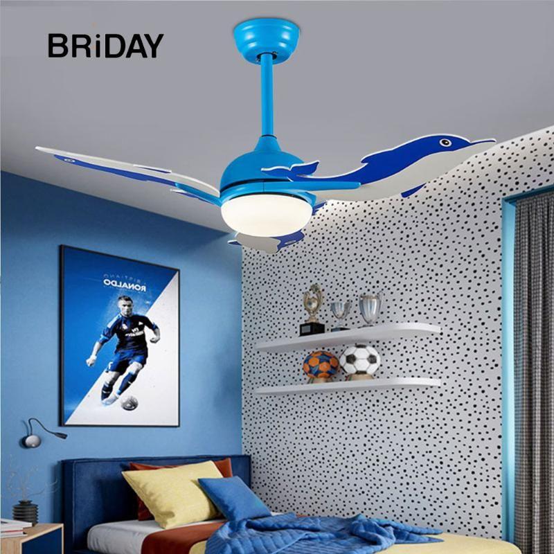 Dolphin 42 дюйма привело потолочный вентилятор с освещением частоты пульта дистанционного управления детская комната DC вентиляторы вентилятор лампы спальни Реверсивные