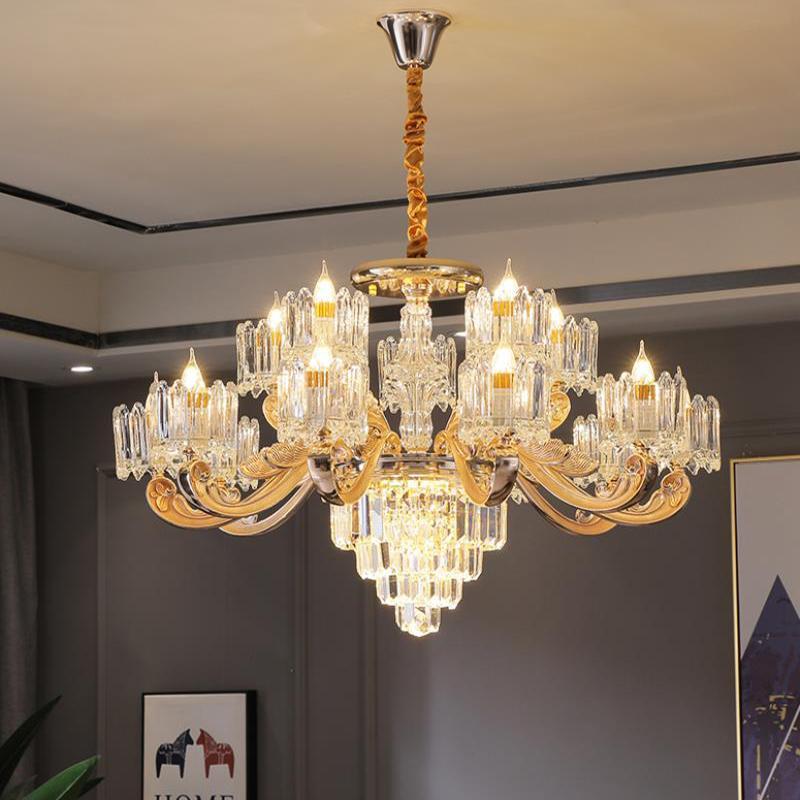 Под современной люстры хрустальные люстры освещение Cristal люстры лампы LED Подвеска висячие свет глянцы De Cristal Lamp