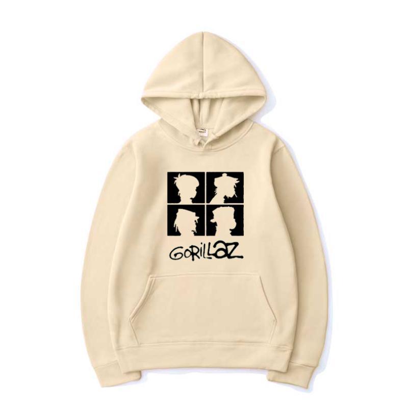 Мужские толстовки толстовки 2021 мода Harajuku хип-хоп музыкальная группа Gorillaz мужчины женщины повседневная толстовка с капюшоном пуловер модный рок толстовка