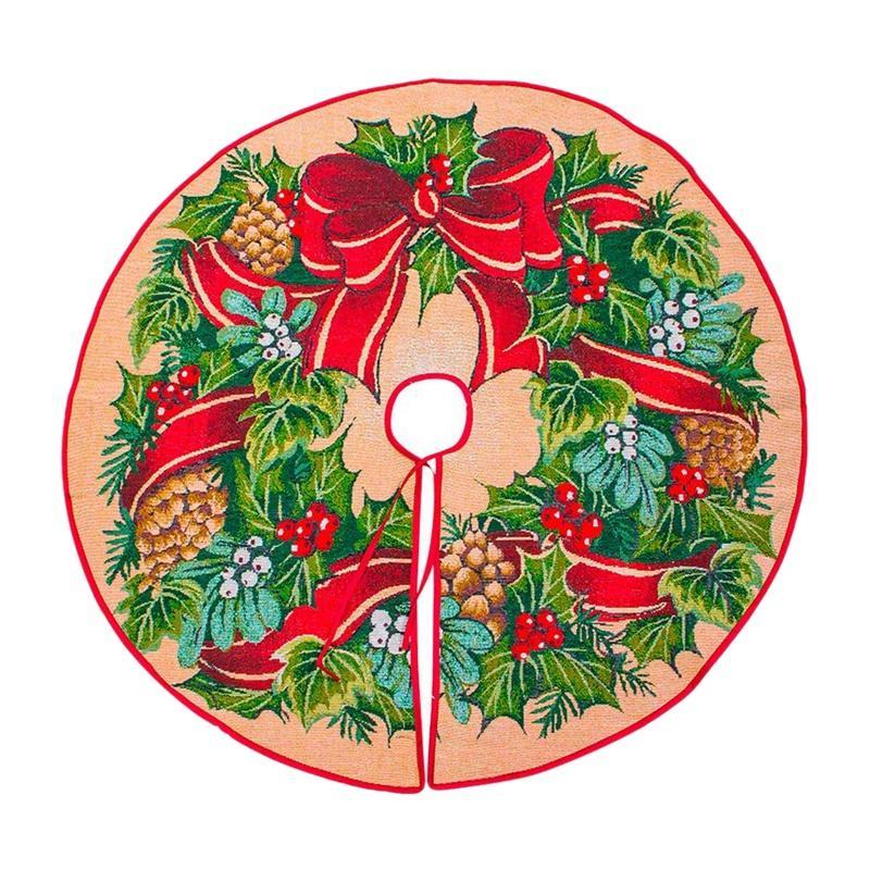 100cm Yılbaşı Ağacı Etek Yılbaşı Dekorasyon Pine Cone Çelenk Ağacı Ayak Kapak Halı Merry Christmas Malzemeleri