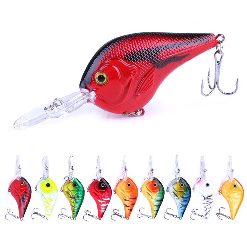90pcs ePacket señuelos de pesca cebos Crankbaits GANCHO BAJO Crank 9.5CM 11,2g 6 # ganchos 95mm duro Minnow Pesca (CB024) el envío libre