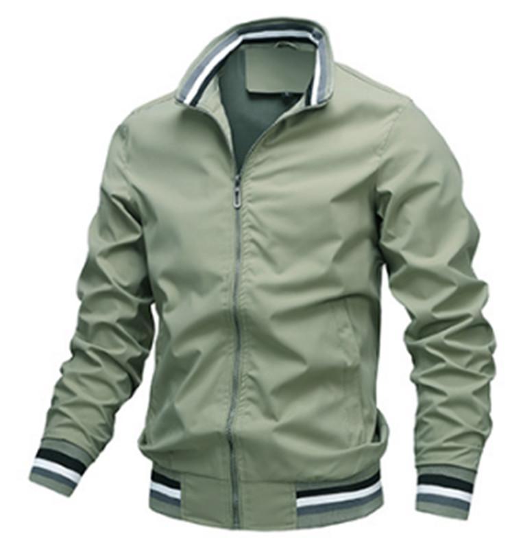 Erkek Ceket Moda İlkbahar ve Sonbahar Yeni Geliş Erkek Spor Katı Renk Standı Yaka ceket M-3XL