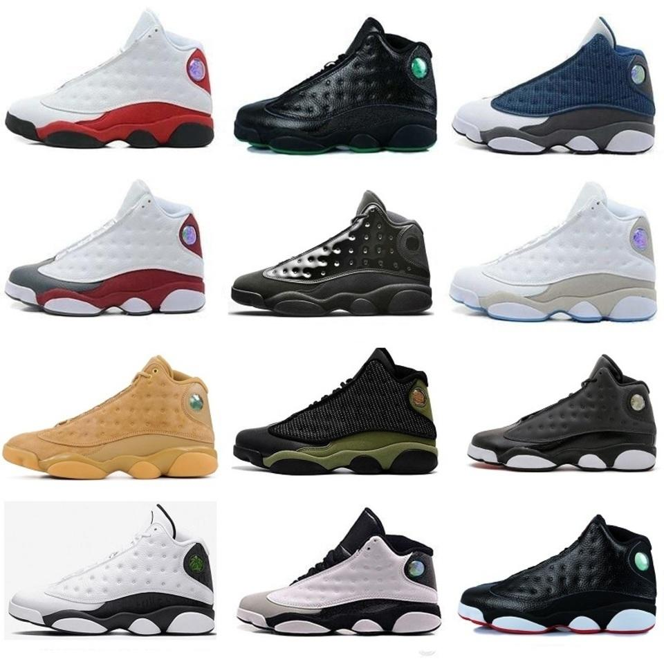 NOUVEAU 13 13s mens Chaussures de basket air J13 femmes RETRO Sneakers Altitude Black Cat Brown a Nakeskin Il silex