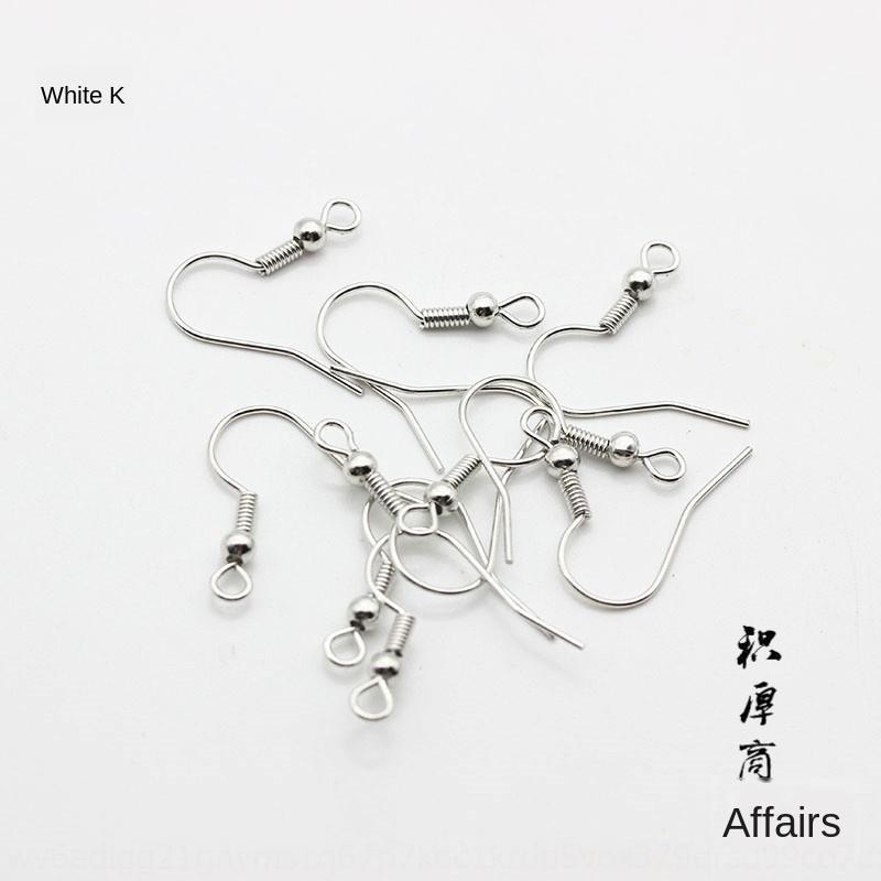 AZiGN bricolage accessoires de Jin Bai Diy Accessoires couleur 18K perles en argent ressort oreille poisson oreille crochet point d'interrogation crochet