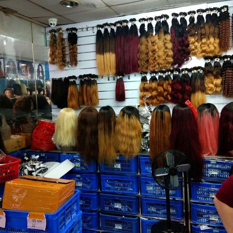 Wholesale 10A Blonde Ombre Human Hair Bundles 1Kg 10Pcs Lot Unprocessed Brazilian Virgin Hair Extension Weave Color1B/27 Cut From One Donor