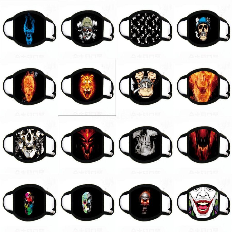 Alloween orror Teufel Printing Masken Sile Ruer Druck Masken Partei Alloween Wolf Maske Wolf Handschuhe für Alloween Party # 891