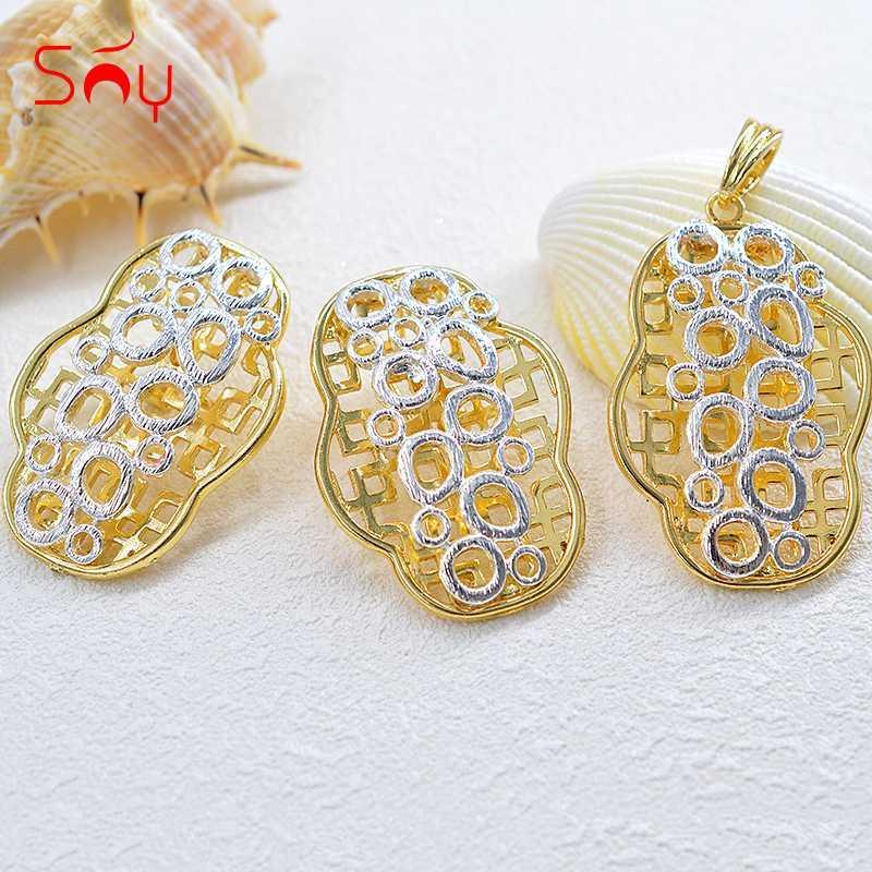 Sunny joyería La joyería de lujo romántico lindo fijó para el colgante para los pendientes del collar de la muchacha de las mujeres de la boda del regalo de cumpleaños