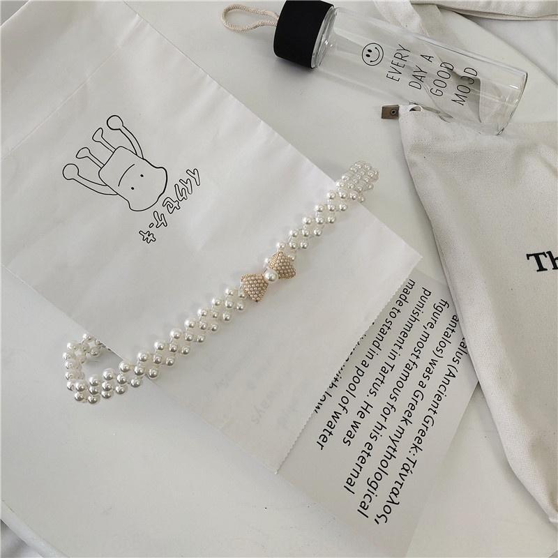 NUEVO Cinturón de estiramiento Coreano All-Match Moda Rhinestone Cinturón Pearl Pearl Decorative Dress Pearl Rhinestone PearLdress Thin Ectax