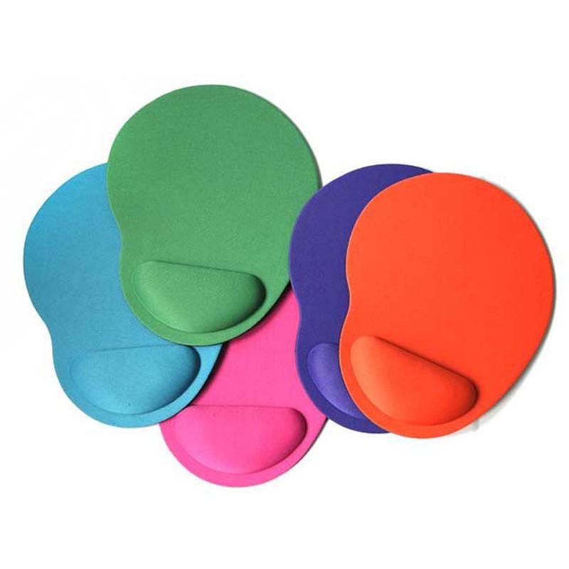 2020 Gel-Handgelenkauflage Unterstützt Runde Gaming Mouse Pad, benutzt für PC-Laptops, Anti-Rutsch, Geeignet für optische Maus 23 * 18cm