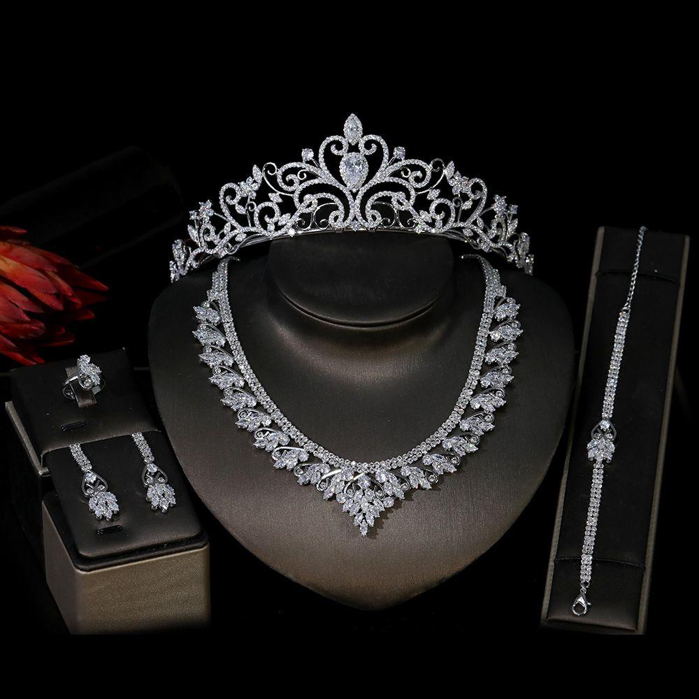 Fashion cubic zirconia headdress set European jewelry women's jewelry suitable for bridal wedding jewelry set Wedding Accessories
