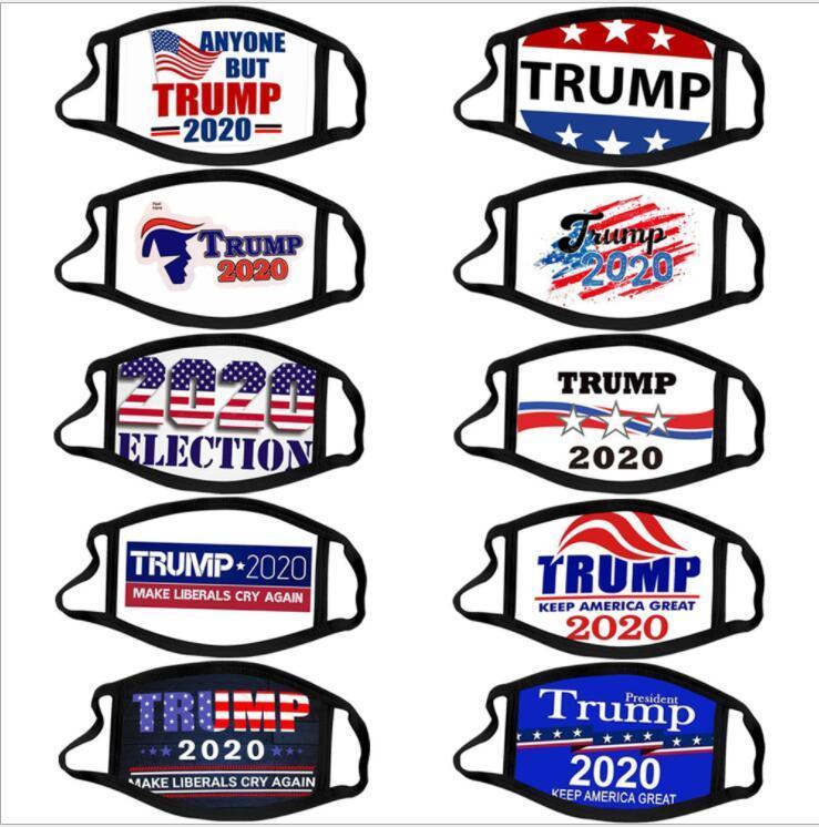 Trump Face Mask Election Sulpplies Bouche Couverture réutilisable Impression Masque anti-poussière lavable visage respirant MasksDesigner Masque HHF1675