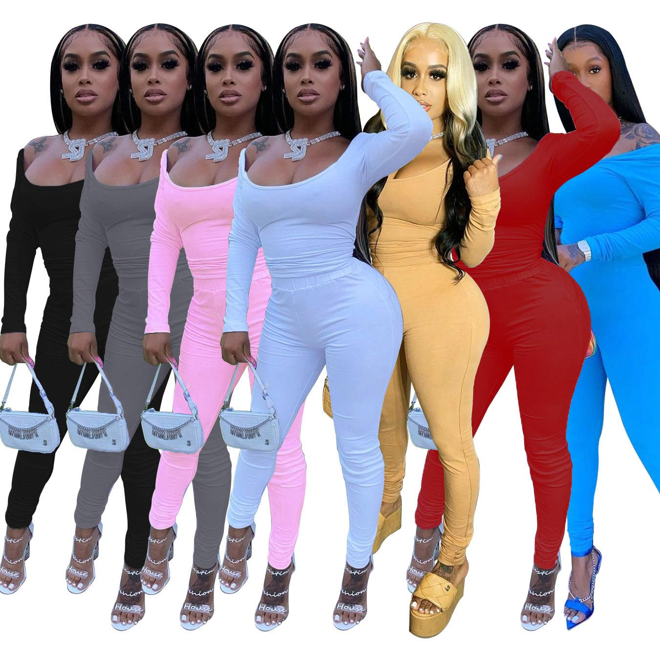 2020 designer long sleeve women two piece set hoodies tracksuit long sleeve women two piece set sweatshirt women clothes
