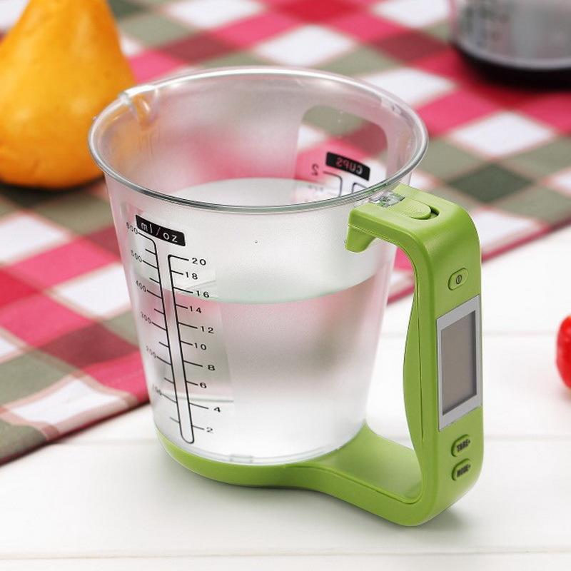 Electrónica digital escala de medición de la Copa del jarro Escala electrónica de cocina escala para hornear Herramientas Leche en Polvo Y200328