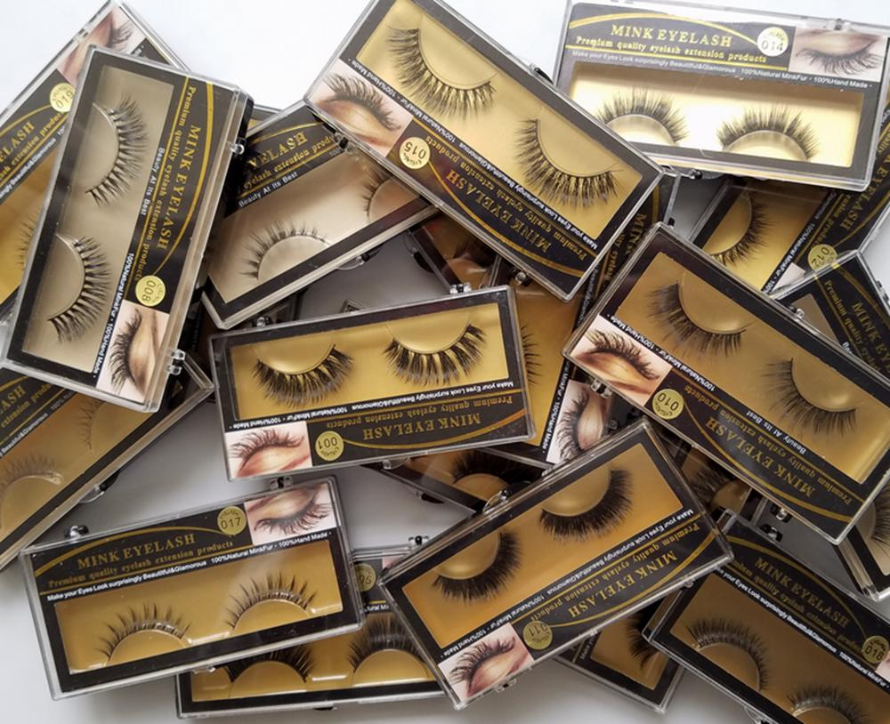 Free Fast Shipping Real Mink Eyelashes Handmade Natural Long Soft Crossing Mink Lashes Wholesale Eyelash Vendor