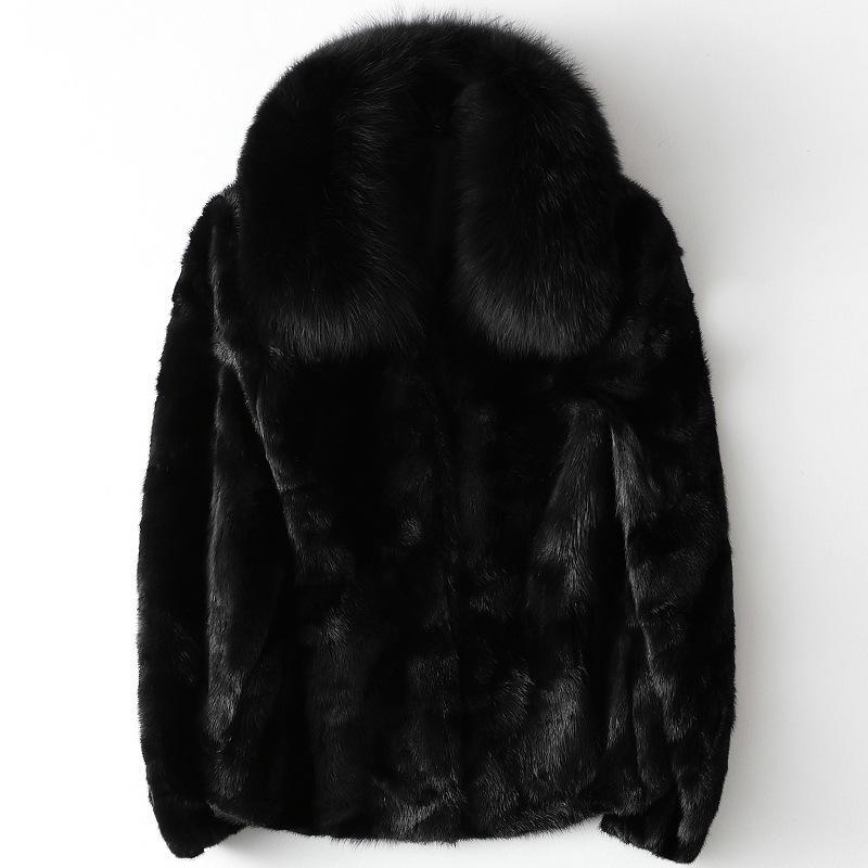 شتاء 2020 الفراء الجديد طوق المنك معطف قصير للسيدات المرأة الحقيقي الفراء المعطف السميك أدفأ الحجم سترة S-XL