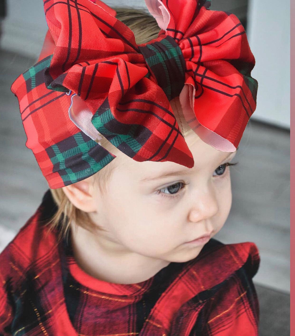 Baby Large Bow Flower Girls Headband Big Bowknot Headwrap Kids Bow for Hair Cotton Wide Head Turban Infant Newborn Headbands