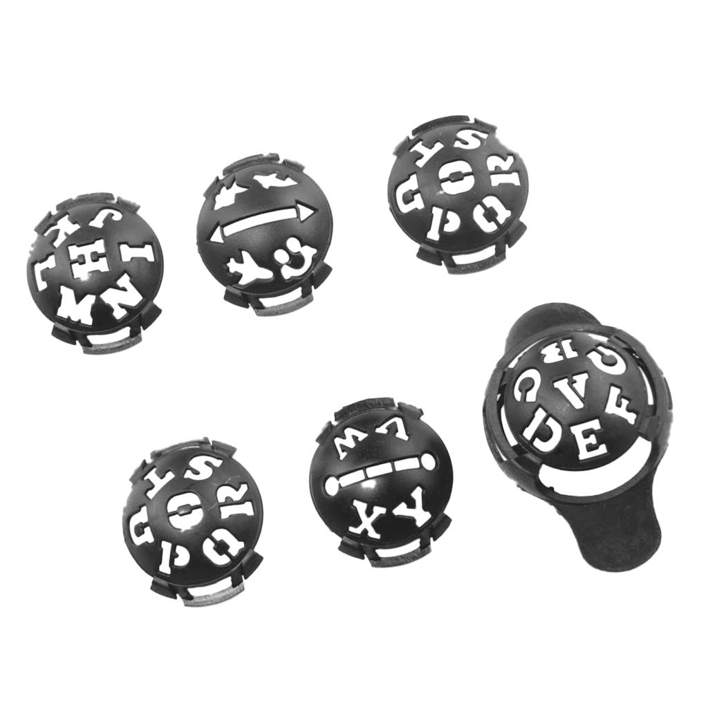 6 in 1 Golf Ball Line Liner Marker Alignment Drawing Tool for Putt Training