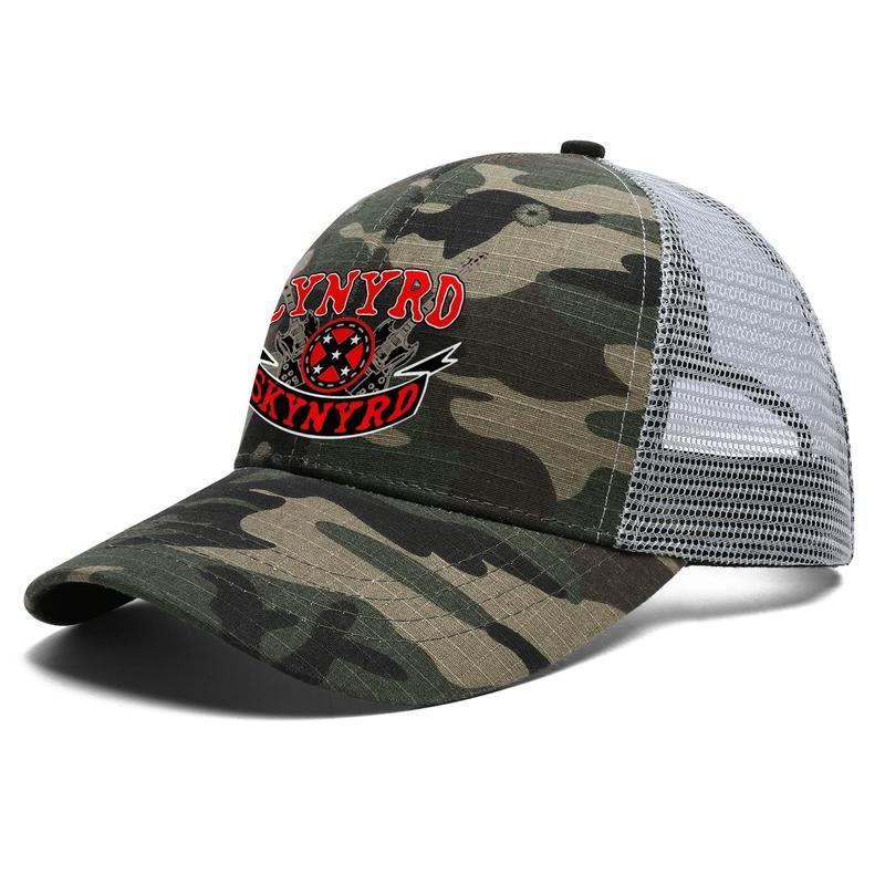 Unisex Lynyrd Skynyrd Adjustable Trucker Cap Cricket Cool Best Vintage Baseball Hat the last rebel outlaws_syknyrd_square lynyrd skynyrd