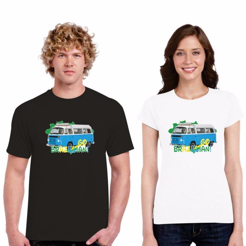 Tee Shirts Descuento para los hombres de la moda de los hombres de la camiseta camisa de cuello redondo Vdub Estaciones de autobús Importado Mirador brasileño T