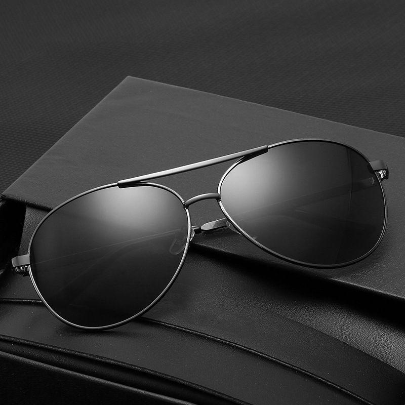 GLAUSA Classic Hommes Sunglasses Gafas Oculos Shades Conduite Cadre en métal Soleil Polarized Sport Sol UV400 Mâle Femmes Lunettes de Goggle Tjqcn