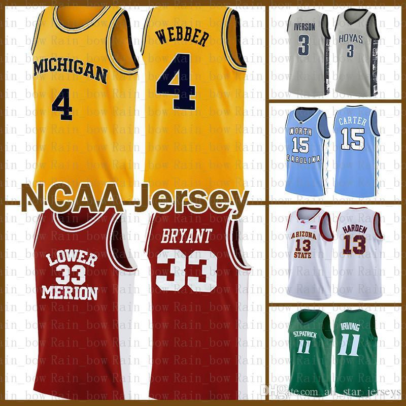 33 Bryant 2020 Chris Webber 4 Kyrie LeBron James Irving 23 Dwyane Wade 3 Université Kawhi Stephen Curry 30 Leonard Basketball Jersey Barkley