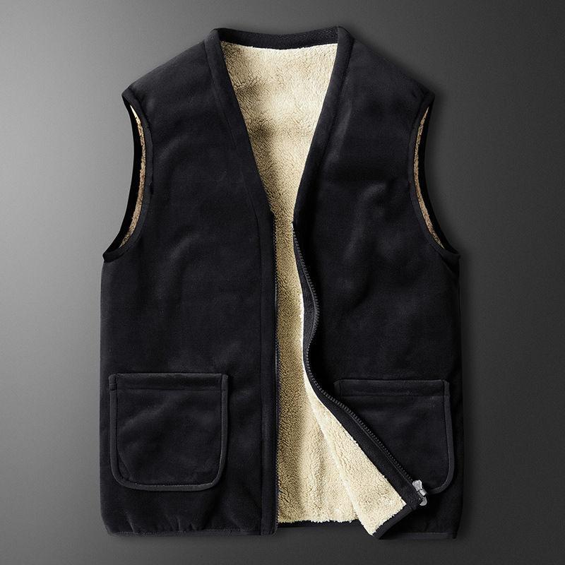 Мужская майка 2020 осени и зима новая свободная холодостойкая теплая шерсть бархатной пара куртка личность тенденция моды одежда