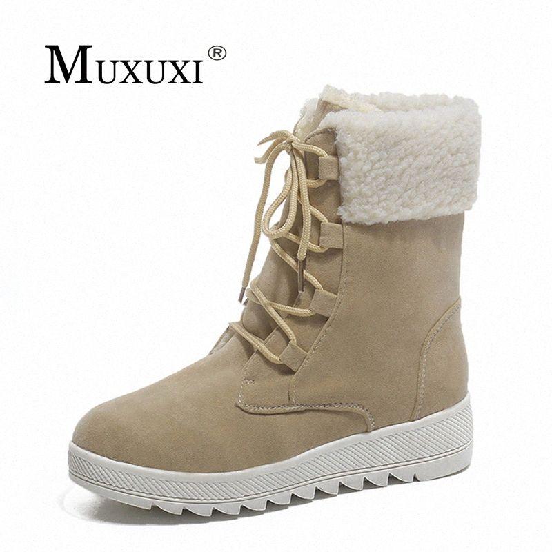 Neue Art-Frauen Winterstiefel weiche bequeme Baumwoll Schnee-Aufladungen der heißen Qualitäts Weibliche Schuhe Ankle Schuss Plüsch Lady pqsx #