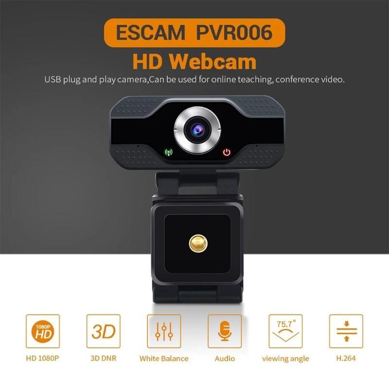 1080P HD 720p Автофокус веб-камера с микрофоном Вращающийся PC Desktop Web камеры Cam Mini Компьютер WebCamera Cam Video Recording Работа