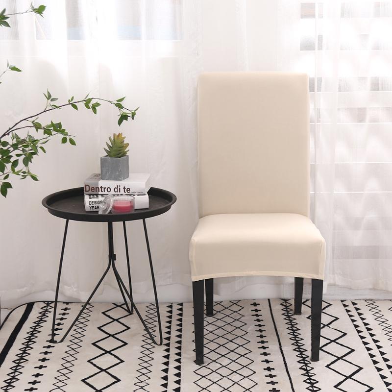 Pure Color Bombom Cadeira Coberta Elastic cadeira Slipcover removível Hotel Banquet jantar Cozinha estiramento assento WRAP Protector