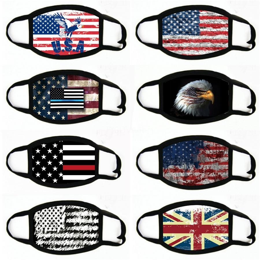 Impression Masques motif Drapeau américain unisexe Motorcycle Echarpes Foulard masque facial # 974