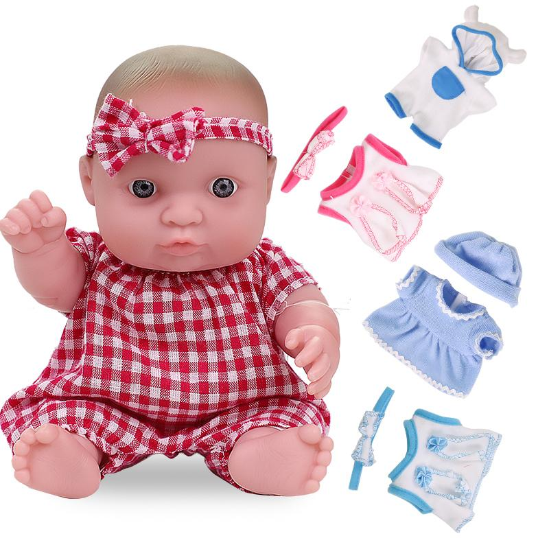20cm Reborn Babypuppen Outfit Kleidung 8INCH Reborn Bebe Puppen Hut Bodysuit Tages Casual Wear Zubehör Spielzeug für Mädchen Diy Geschenk