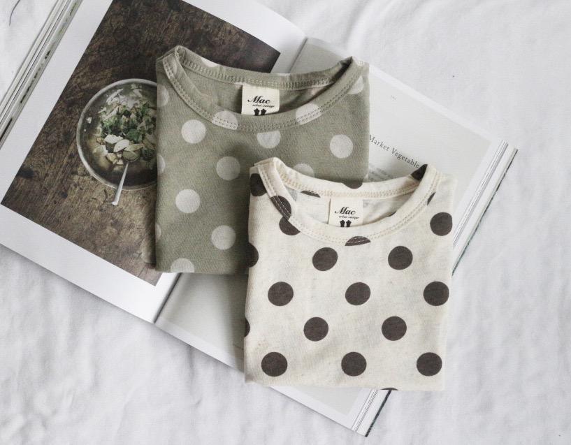 Qualidade INS crianças meninas meninos camisetas de manga curta de bolinhas t-shirt Verão Moda puro algodão Meninas Tops 1-8 anos