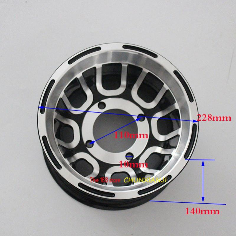 Size 8 Inch Bearing Wheel Hub ATV Aluminum Rims Use19X7.00-8 Tyre 20x7-8 21x7-8 Vacuum Tires for Go-kart Four Wheel Motorcycle