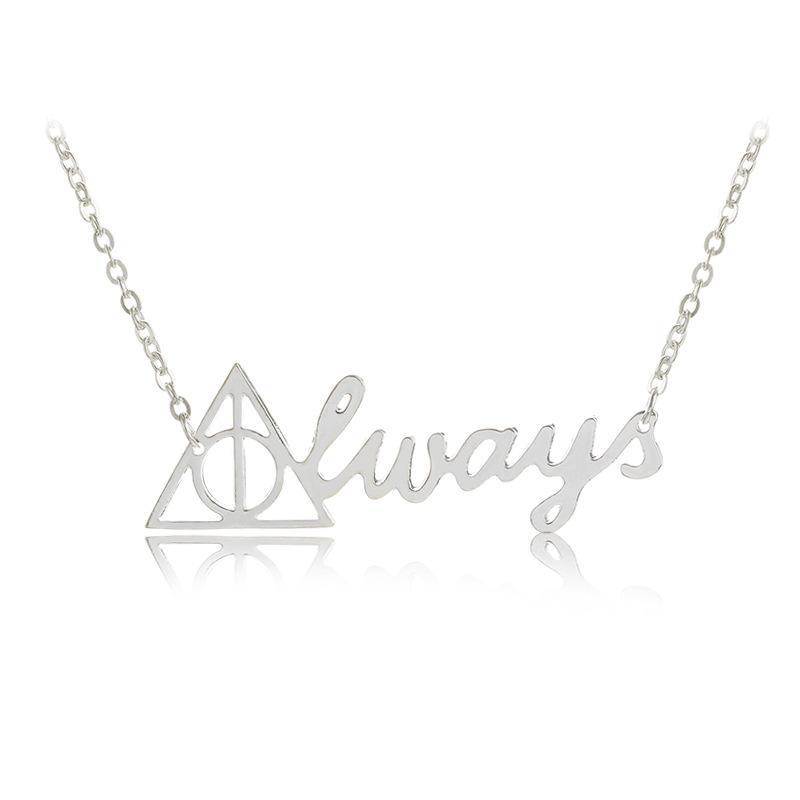 Мода Vintage Треугольные Гарри всегда ожерелье Смерть Hallows Ожерелья Подвески для женщин Свадебные украшения