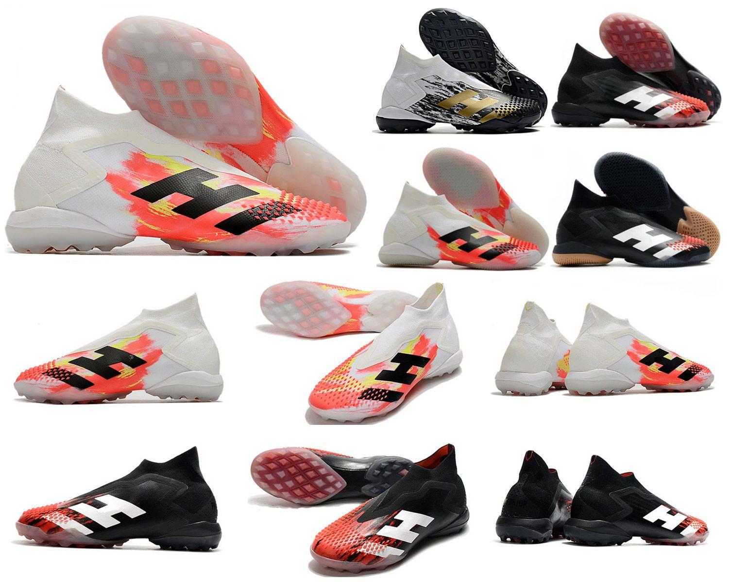 أحذية المفترس Mutator 20+ TF في Uniforia رحلات الطيران حزمة داخلي العشب PP بول بوغبا الرجال الانزلاق على لعبة كرة القدم 20 + س المرابط أحذية الحجم 39-45
