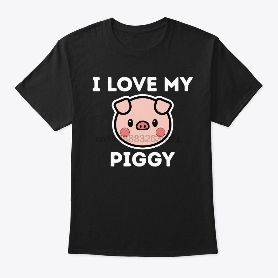 Männer-T-Shirt I Love My Piggy Shirt Lustiges Haustier-Schwein (2) Damen-T-Shirt