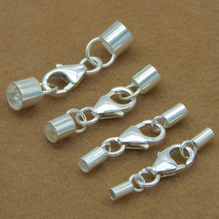 t679W Schmuck multi-Spezifikation Seil Verbindungs 925 Silberschmuck 925 Silber Zubehör Zubehör Multi-Spezifikation Leder ropelea