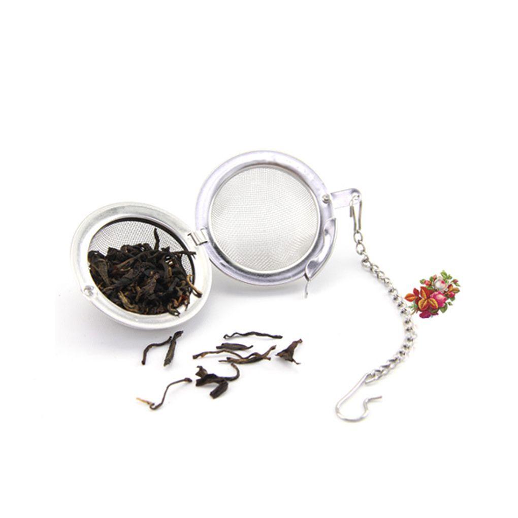 Tè dell'acciaio inossidabile infusore Pot Infusers Sfera del tè del setaccio della maglia della sfera di bloccaggio colini e filtri di tè Intervallo diffusore per la sfera HHD1556