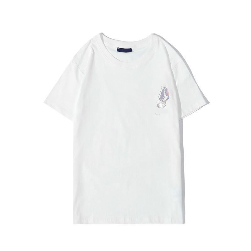 20s Kadınlar tişört Moda Mektupları tişört Erkekler Kadınlar Klasik Konfor Basit Geometrik Gömlek Boyut S-2XL ile Tee Yeni Geliş Soğuk Baskı