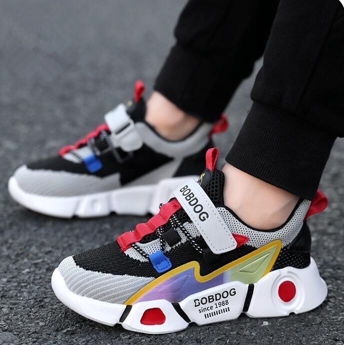 2020 nuevos zapatos de deporte para niños zapatillas de chicos de moda las niñas primavera niños ocasional zapatos del muchacho de los zapatos corrientes del niño