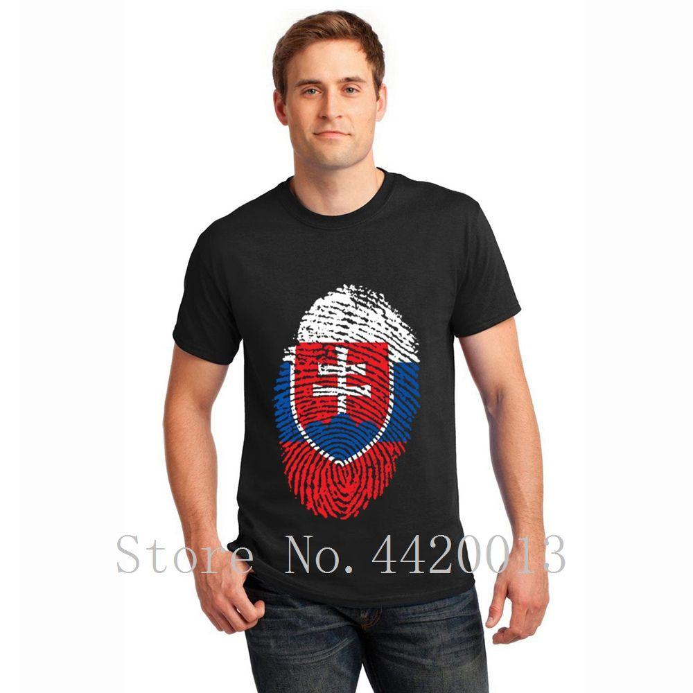 Boyun slovakya Standart Ünlü Yeni Moda Yaz Stil Trend HipHop En erkekler tshirt yuvarlak kişiselleştirilmiş pamuk