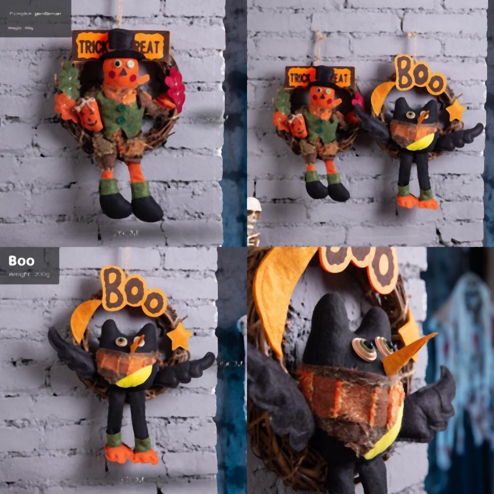 abito ZsIFP Nave decorazione creativa di mercato di Halloween giocattolo scena fino Party Hotel Decoration Supplies bambola zucca Ornamenti Masquerade Porta dicembre