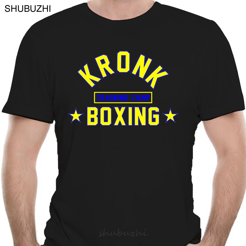Kronk Gym Boxe Mens Training Camp T shirt regular fit moda t-shirt rossa uomini del cotone di marca teeshirt