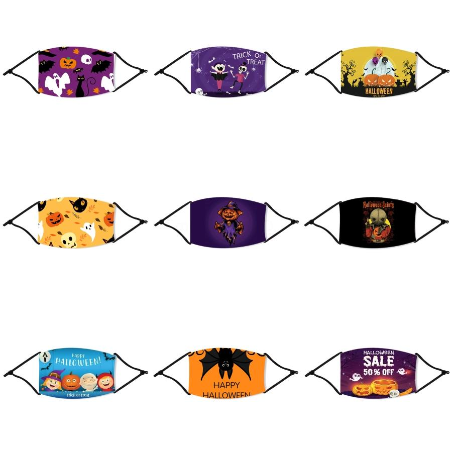 24Hours Schiff! Anti-Staub-Baumwolltuch-Gesichts-Halloween Straw Maske Unisex Mann Frau Radfahren Tragen Schwarze weiße Mode Halloween Straw Maske # 755