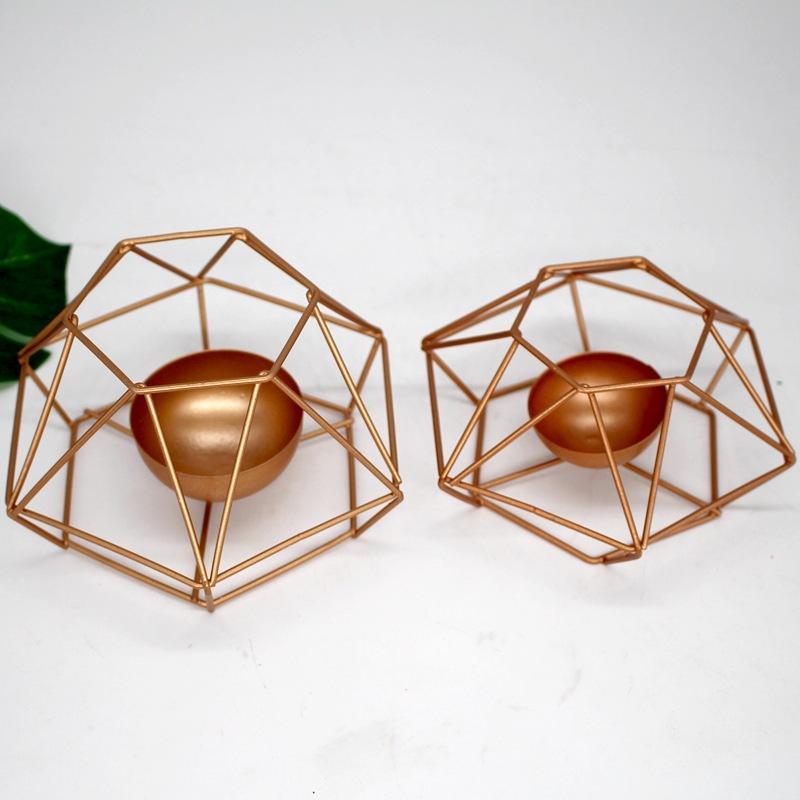 Fashion Geometric Eisen Kerzenständer Wandkerzenhalter Ornament Sconce Passende Teelicht Stahl Minimalist Hochzeit Home Decor Geschenk